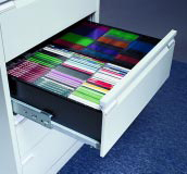 Each drawer holds 160 CDs..