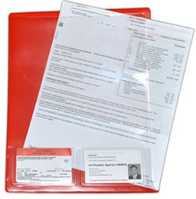 Sheet protectors project organizers presentation files documate letter size with business card pockets colourmoves