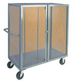 "48""L x 24""W, 4-Sided Enclosed Security Cage Cart."