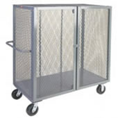 "48""L x 36""W, 4-Sided Enclosed Security Cage Cart."
