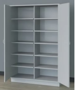 Wooden Locking Storage Cabinet.