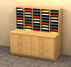 Mailroom Sorting Station Wood Mail Sorters 40 Pockets