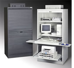locking computer cabinet locking computer pc storage cabinet all steel tambour door 22772