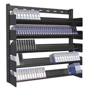 Multi Media Wall Mountable Media Rack For Cds Dvds Vhs