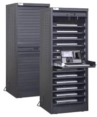 Single Wide Laptop Cabinet With Options.