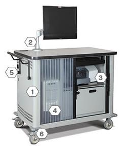 Mobile Computer Station Locking Cpu Mobile Workstation