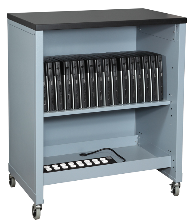 The standard version of the cart provides easy access and a convenient worksurface on top.  sc 1 st  Medical File Cabinets & Mobile Laptop Cart | Locking Tambour Door Laptops Transport Cart ...
