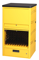 LapTop Depot Tower can stores, charges, and secures up to 20 or 30 laptops.