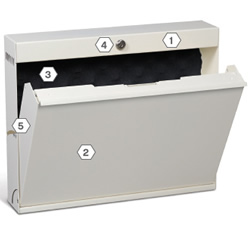 Beau Laptop Locker With Durable Construction.