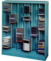 Sstore and organize CDs and DVDs.