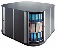 Lockfile Locking Corner Carousel Storage Cabinets For Binders End Tab Side Tab And Multimedia