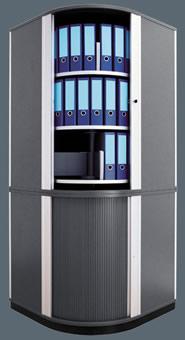 Lockfile Locking Corner Carousel Storage Cabinets For