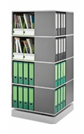 Square Carousel for binders, books, files and more. Perfect for the corner of an office, classroom or library.