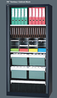 Tambour Door Storage Cabinets 78 Quot High Filing Cabinet