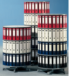 "Spin and File 32"" Diameter Rotary Binders Carousel."