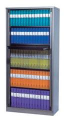 5 Shelf Binder Storage Tambour Door Cabinet