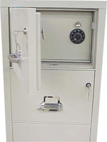 ... Fireproof Filing Cabinet With A Hidden Safe.
