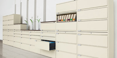 Lateral cabinets for letter or legal-size end-tab folders, binders, DVD, CD, drawer filing and more.