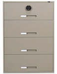 These lateral filing cabinets are approved for storage of classified records.