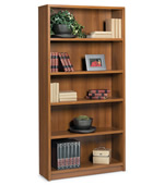 "72"" high bookcase with 1 fixed, 3 adjustable shelves."