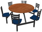 Furnitures for Cafeteria, Lunchroom, Staff Kitchen, Food Courts and more.