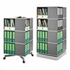 Square Binder Carousel Storage.