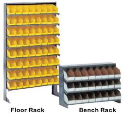 Beautiful Free Standing Bins Storage Pick Racks, Bench Racks