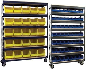 Series 200B Mobile Bin Storage Units. & Bins Storage Units | Mobile Storage Bins Shelving | Plastic Bin ...