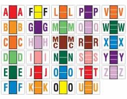 Letter A SMD66470 Jeter Comp Alpha Labels Category: Color-Coding 500//Box Orange 1 5//8w x 15//16h