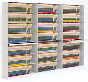 Stackable Shelving Letter Depth SuperStax Tier End-Tab Files Open ...