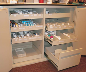 A Typical Install Showing Pharmaceuticals Organized And Labeled