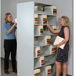 4-Post Open Shelving Single and Double Side Filing.