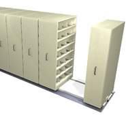 4-Post Shelving Manual Mobile Filing Systems.