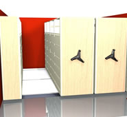 Mobile Filing Systems 4-Post Shelving With Drawers.