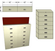 Stak-N-Lok Shelf Filing Cabinet.