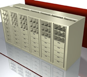 Rotary Cabinet for Top-tab and End-tab Filing.