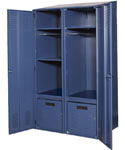 4-Post Storage Locker to secure personal items, gear, clothes, electronics and more.