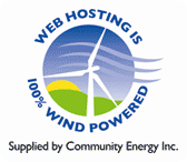 Web Hosting is 100% Wind Powered.