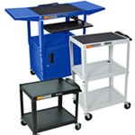 All Steel Mobile Media Carts and Stands.