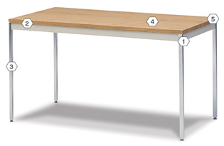 Mailroom Work Tables 24 or 30 Deep All Purpose Work Table