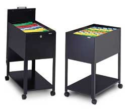 Mobile File Cart Locking Sliding Top And Drawer For