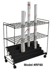 Plan files roll file mobile carts racks stands rolled flat files 60 openings cart for rolled documents malvernweather Images