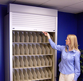Rollok door on filing systems.