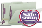 SafeSHIELD® Coated Fastener Technology the ultimate solution to fastener issues, including paper tears, finger cuts, and excessive fastener crinkling. Available in letter or legal size.