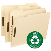 Top-tab manila fastener file folders with reinforced tab.