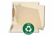 Letter and legal size folders recycled stock.