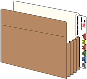For File Pockets, 2 Labels per page