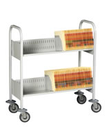 Mobile files transport carts.