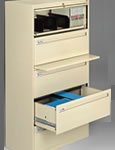 Tennsco Lateral Filing Cabinets.